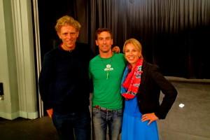 CCTA Patron Matt Heason with Kenton & Heather
